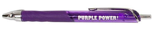 """""""Purple Power"""" Purple Pen with Purple Ink, Gel Pens"""