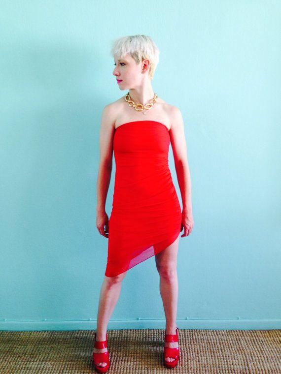 Tina s club 7 red dress xs