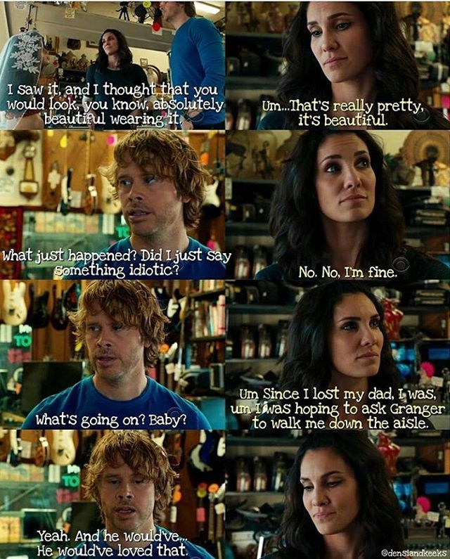 """145 Likes, 2 Comments - @love.ncisla on Instagram: """"NCIS LA *Densi* **SPOILER** (Repost @densiandkeeks) Y'all, this scene was heartbreaking and so…"""""""