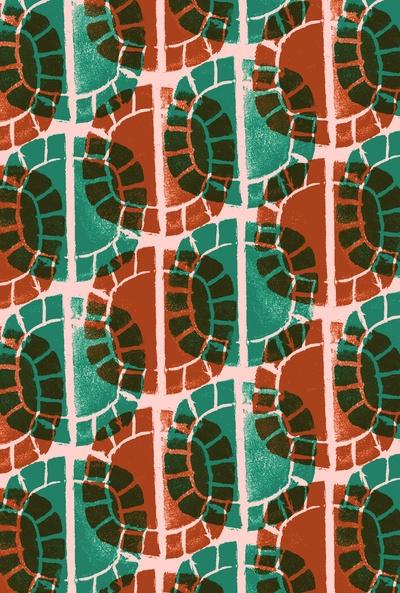 Press print circle pattern - Sarah Bagshaw