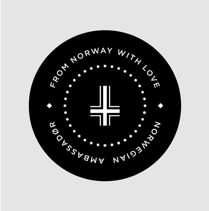 Norwegian Ambassadør — Top of the cork. 50% white, 50% black corks. Design by Sans Colour.