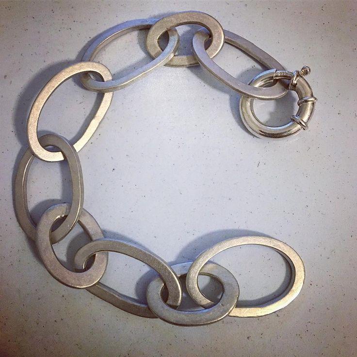 A delectably chunky chain for my wrist .. by Sally Herbert, HerbertandWilks.  Made in Mt Eden, Auckland, New Zealand.  www.herbertandwilks.co.nz/shop/