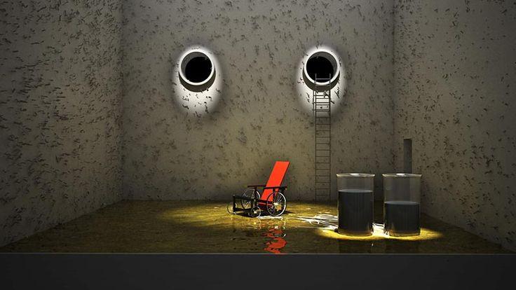 "Samuel Beckett´s ""Endgame"" set design. Emilio L-Galiacho. 2009."