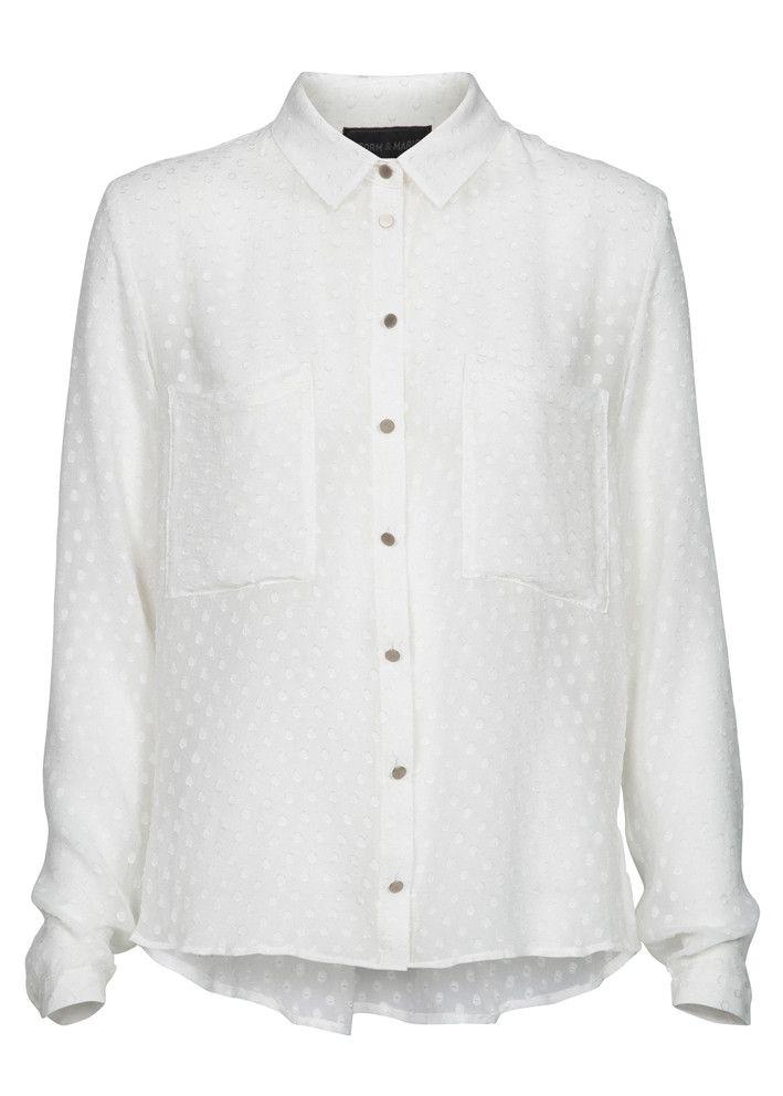 Storm & Marie Silkeskjorte hvid 15011 Vera Shirt white – acorns