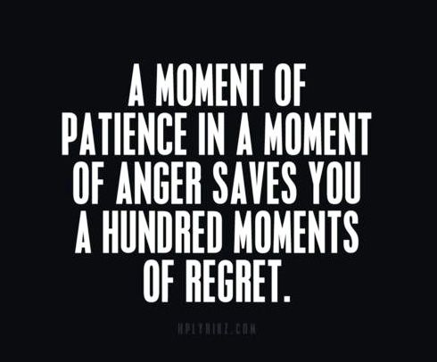 A moment of patience .  .  .