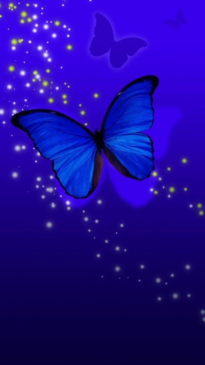 Wallpaper By Artist Unknown Blue Butterfly Wallpaper