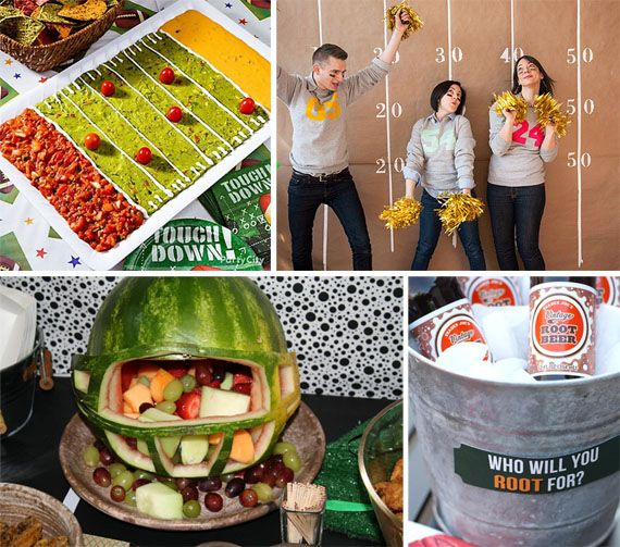 Super Bowl party ideas {prettymyparty} #football #superbowl #parties