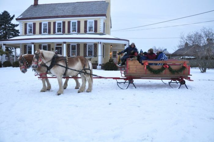 Climb aboard a cozy sleigh for an unforgettable adventure this winter at Northern Star Farm.