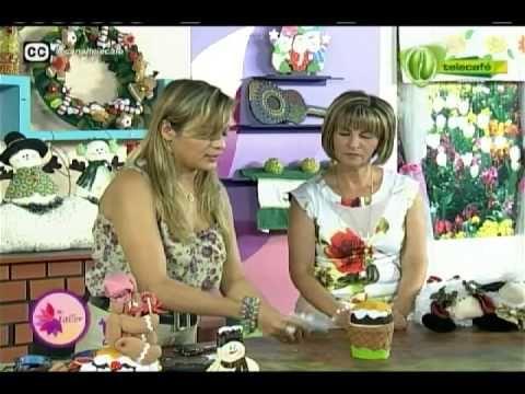 Mi Taller cup cake navideño 18 de septiembre 2014 Telecafé - YouTube