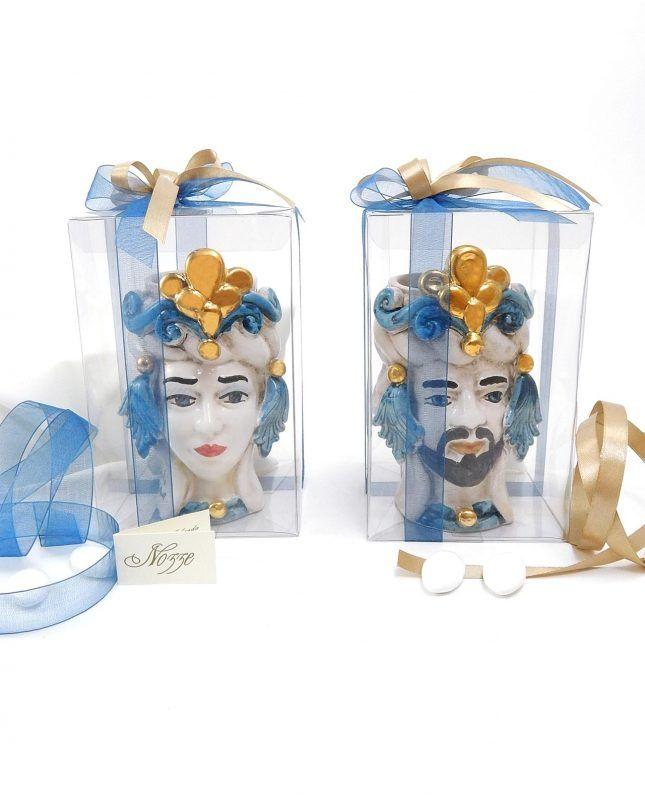 Bomboniere Matrimonio Ceramica Caltagirone.Bomboniere Matrimonio Teste Di Moro In Ceramica Di