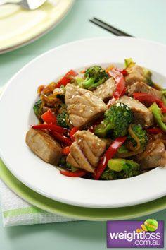 Healthy Asian Recipes: Tuna and Broccoli Stir Fry Recipe. #HealthyRecipes #DietRecipes #WeightlossRecipes weightloss.com.au