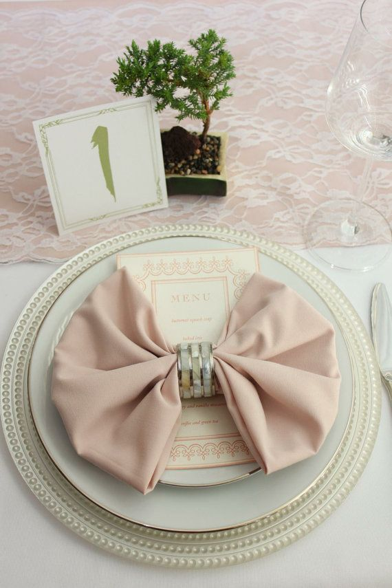 HIGH QUALITY BLUSH NAPKINS FOR WEDDINGS. This is the true Blush shade for weddings. Not pink. Not light guava. Not pale coral either. We