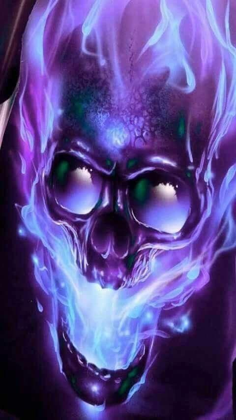 Kinda Creepy Kinda Cool Purple Love Skull Skull Art