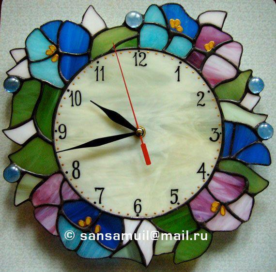 Витражные настенные часы на тему музыки - Декоративные настенные часы из витражных материалов - Zen Designer