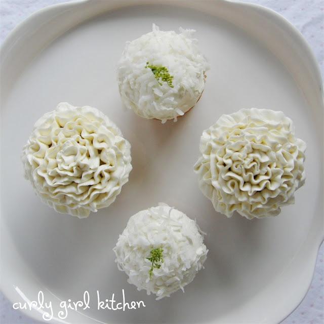 Curly Girl Kitchen: Lemon Coconut Cream Cupcakes