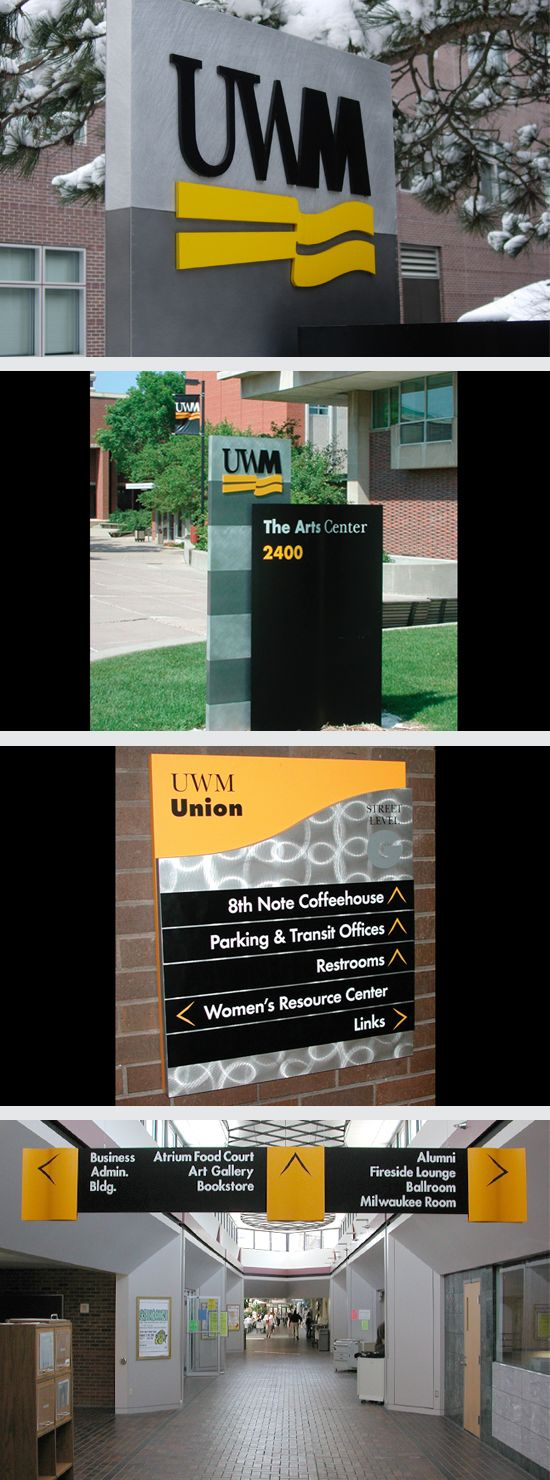 Brand Study University Of Wisconsin Milwaukee Logo Stationery Signage Environmental