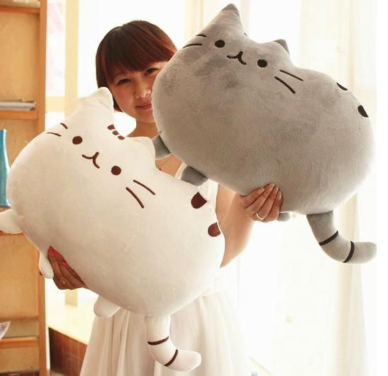 Novelty item soft plush stuffed animal doll,talking anime toy pusheen cat for girl kid;kawaii,cute cushion brinquedos