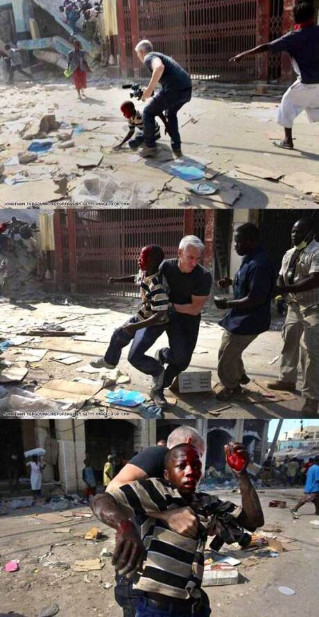 When covering the Haiti earthquake Anderson did this. It struck a nerve in me.