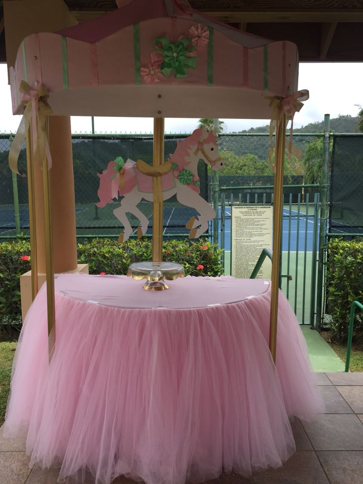 Carousel Candy and Cake table