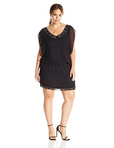 T8 $78 S.L. Fashions Women's Plus-Size Sequenced Beaded Collar Dress, Black, 20 S.L. Fashions http://www.amazon.com/dp/B00WE00M4I/ref=cm_sw_r_pi_dp_W872vb1WQKXCX