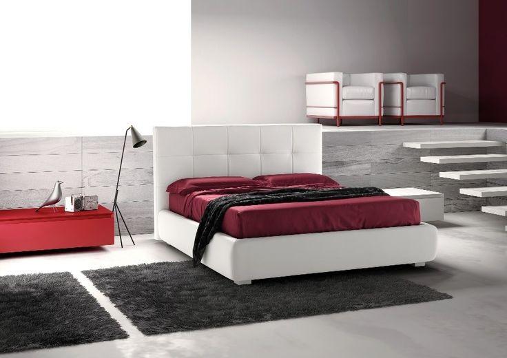 Elegantní postel Button / elegant white bed