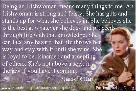 Top Ten Maureen O'Hara quotes | Ireland Calling