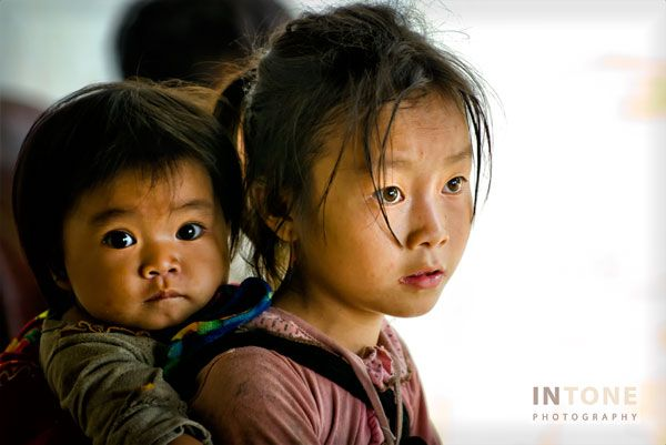 Young and younger, Sapa, Vietnam