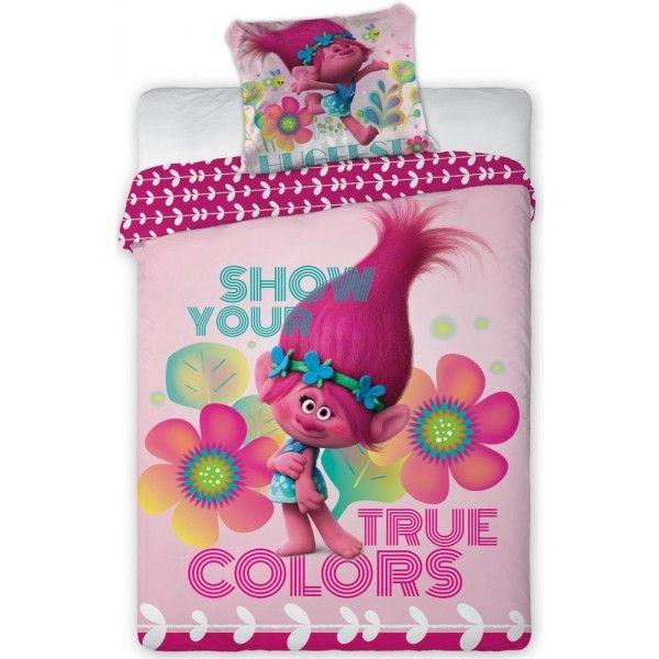Trolls sengetøj med Poppy i 100% bomuld