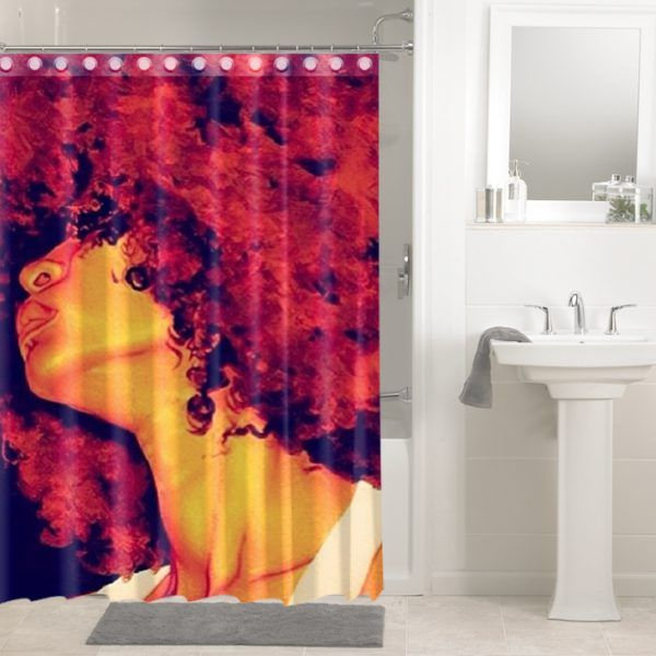 Afrocentric Afro Hair African Women 1454 Shower Curtain