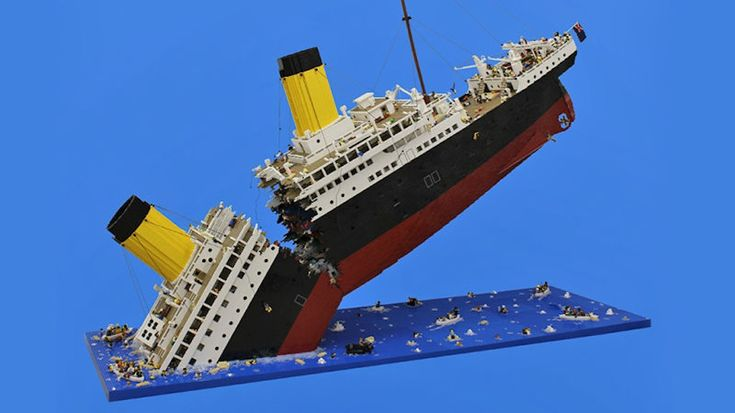 Massive Sinking LEGO Titanic Required 120,000 Pieces to Make