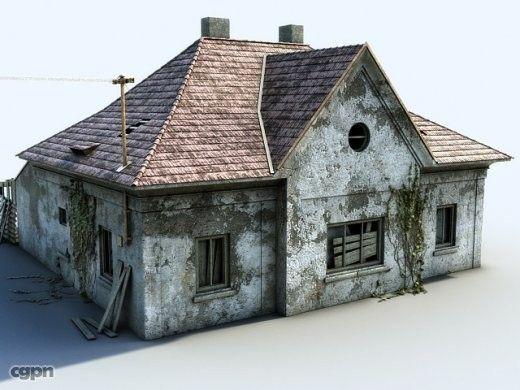 Ruined house - 3d model - CGStudio