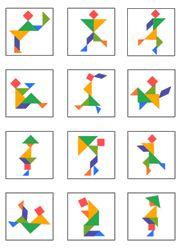 Modèles de personnages pour jeu tangram à imprimer en couleur
