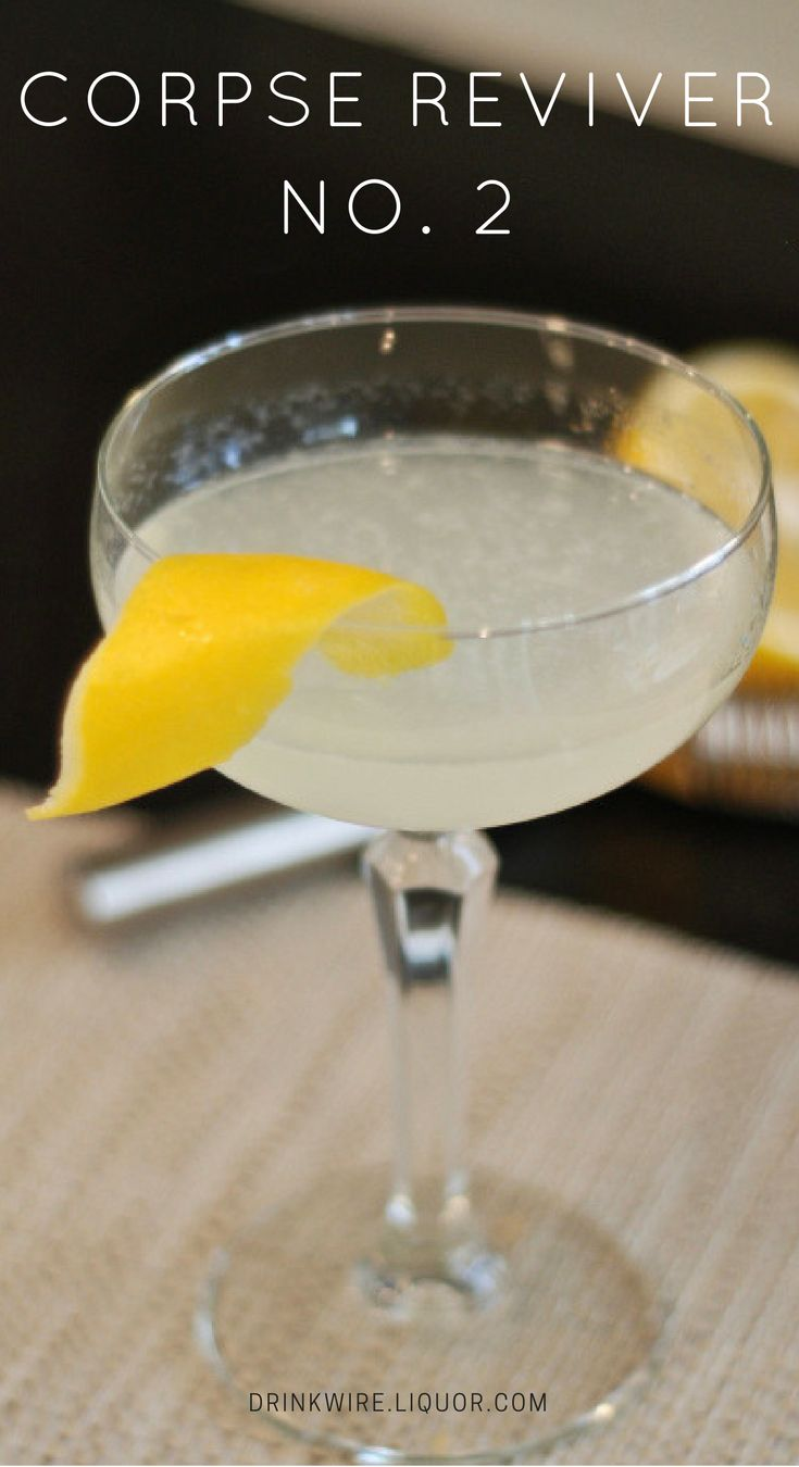 """The Corpse Reviver #2 is a beautiful cocktail, that is easy to drink while still having some complex flavors. And as it turns out, is a pretty easy cocktail to batch ahead of time for a large group! The #2 of the Corpse Reviver cocktails is also known to be one of the tastiest of Corpse Reviver group (the group of Corpse Reviver cocktails are created as """"hair of the dog"""" cocktails; cocktails that help with a hangover)."""
