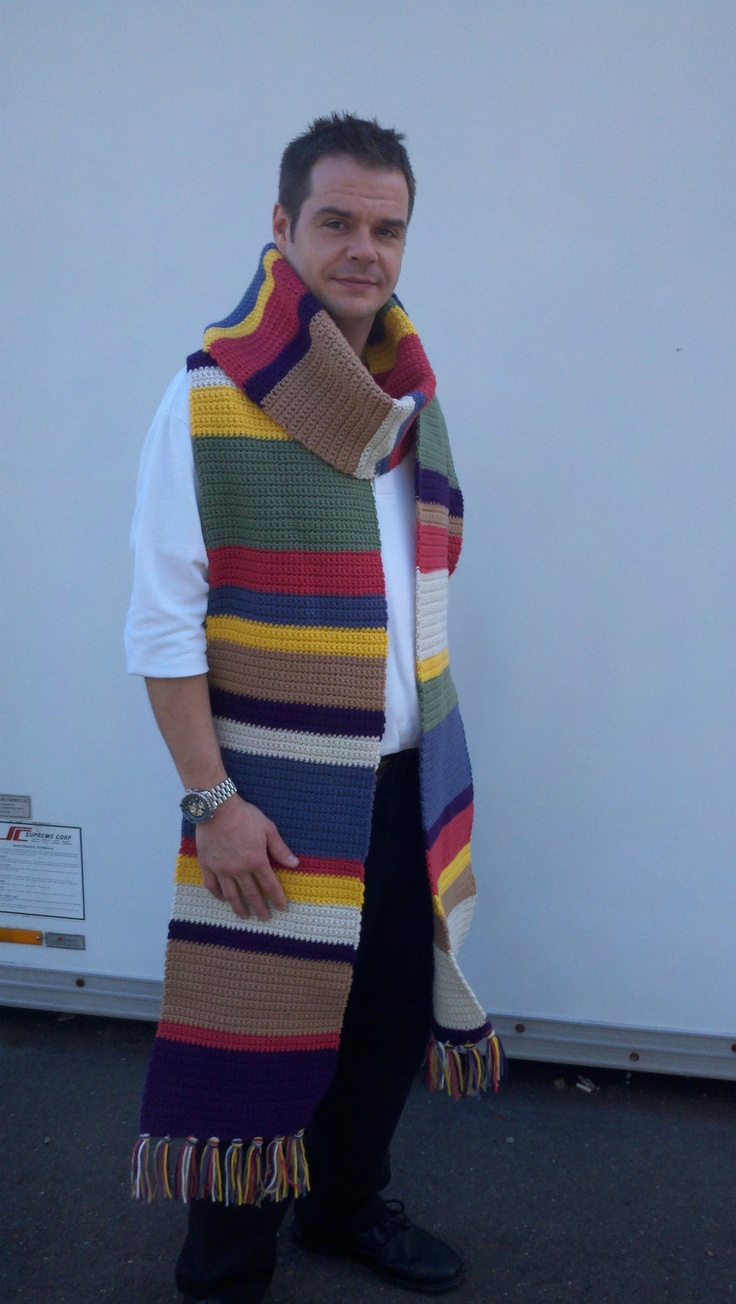 14' Large Dr Who Scarf Inspired by Seasons 12-14:  Blue Water Gifts, Etsy