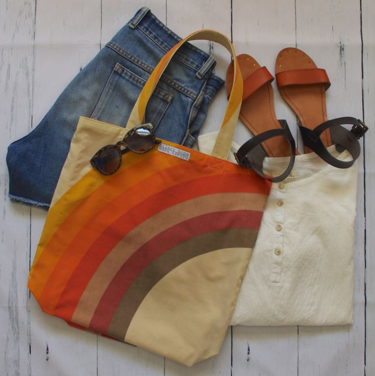 Elevate a classic summer outfit with this retro fabulous reversible tote bag handcrafted from sustainable repurposed materials!