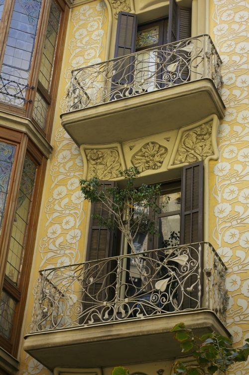 Art Nouveau Balconies - These are the reason I can't stand boring balconies.