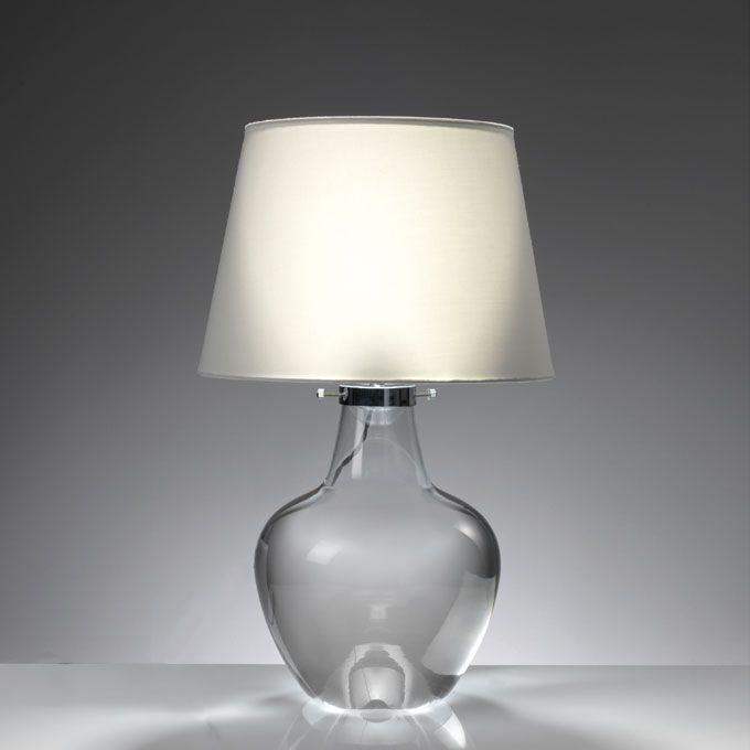 LAMPADA 'CLEAR' O1018 Lampada clear con base-contenitore in vetro Dimensioni: 35x52 h. cm. Mascagni Casa