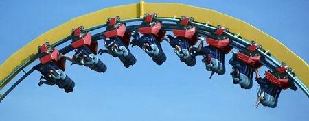 Upside-down roller coaster (Thinkstock)
