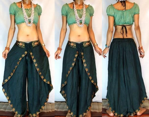 MissEthnic.com - GYPSY BOHO INDIAN HAREM DANCING PANTS TROUSERS H26