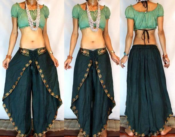 MissEthnic.com - GYPSY BOHO INDIAN HAREM DANCING PANTS TROUSERS H26