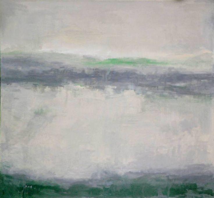 """Saatchi Art Artist Monika Vitanyi; Painting, """"Hiden misty lake"""" #art"""