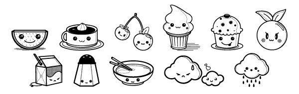 Kawaii Coloring Pages Of Foods Printable Coloring Pages Food Coloring Pages Free Coloring Pages