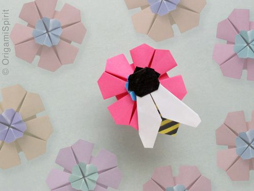 Bee My Honey!  -How an origami fly became a bee.