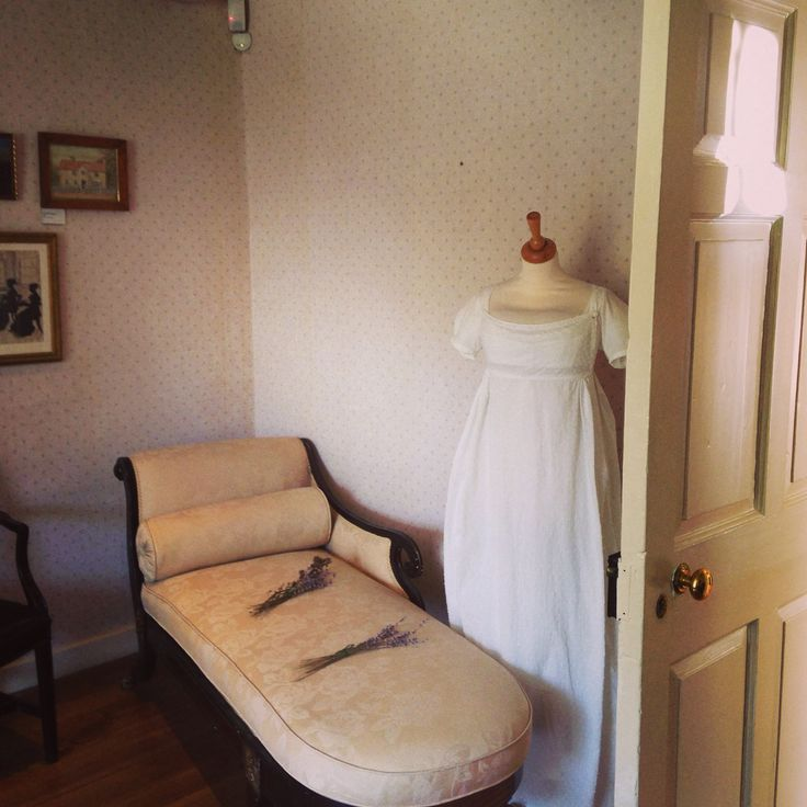 Drawing room at Jane Austen house museum at Chawton in Hampshire