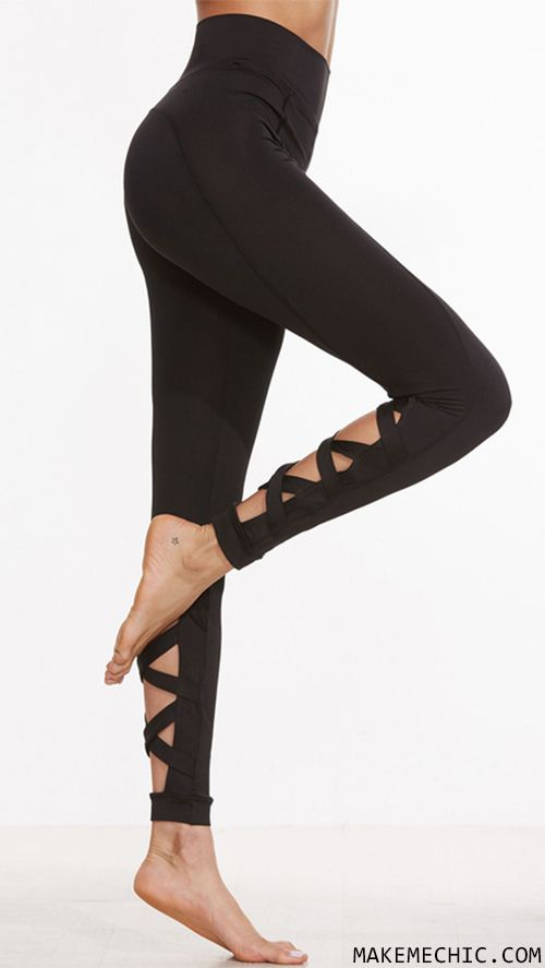 Working out will be a breeze in these ultra cute Cutout Crisscross Back Leggings! Features a stretch material, criss cross leg design, and a slimming effect. Pair with your fave sports bra and sneakers and kill that workout!