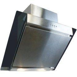 ElectrIQ 60cm Angled Glass and Steel Designer Cooker Hood