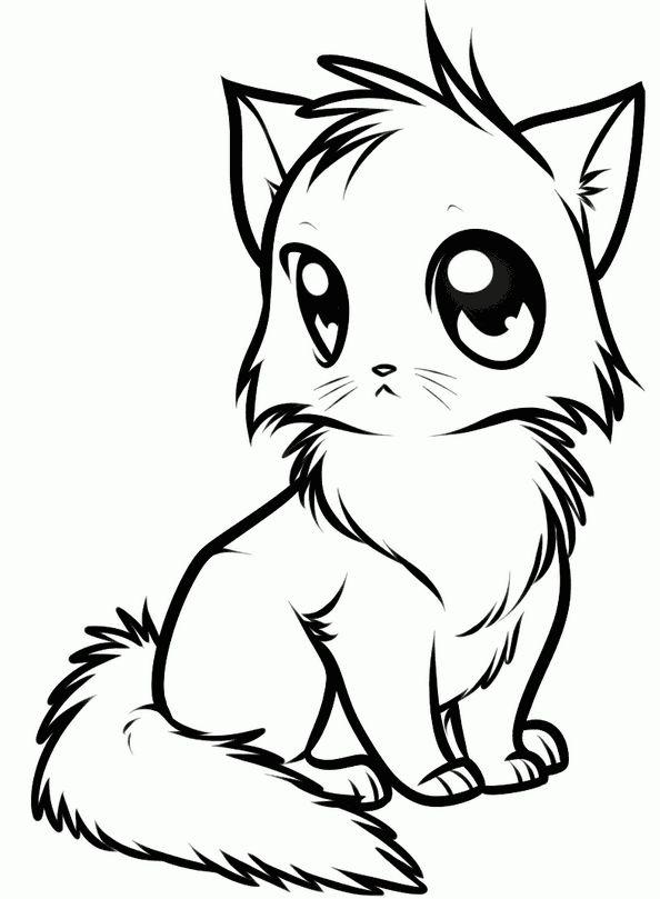 Картинка кошечки рисовать