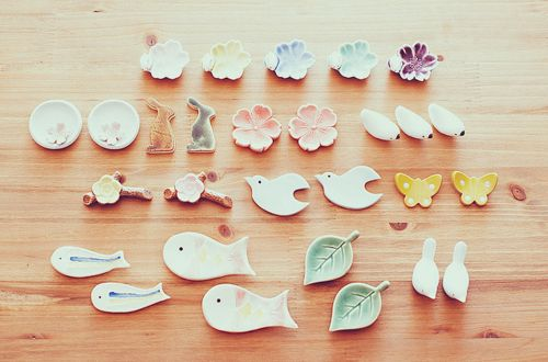 Pretty ceramics (these are chopstick rests)