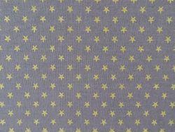 Tissu Voile de Coton Anthracite Imprimé Etoiles en vente sur TheSweetMercerie.com