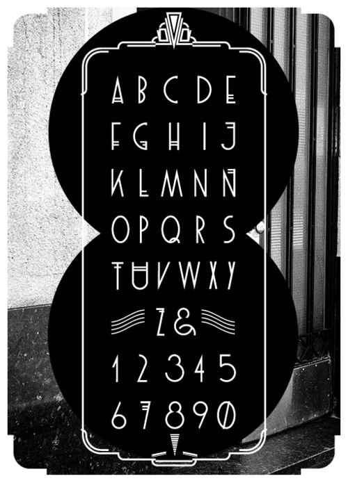 P.T.C.D.I (Poiret font by Francisco López Bustamante. The coolest 7 & 8 EVER. E V E R!)